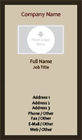Black and Beige Photo Business Card Template
